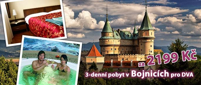 3-denní pobyt pro DVA v Bojnicích za 2199 Kč