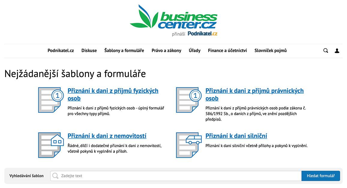 Portál Business.center.cz